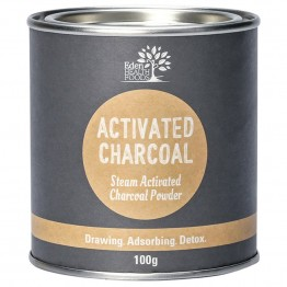 Eden Health Foods Steam Activated Charcoal Powder - 100g