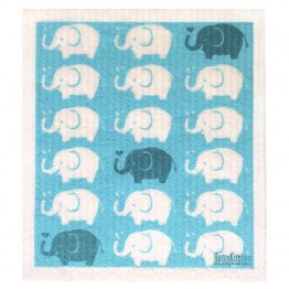 Retro Kitchen Swedish Dish Cloth - Elephants
