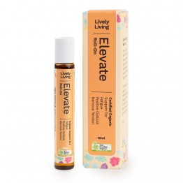 Lively Living Organic Elevate Essential Oil Roll-On Blend 10ml