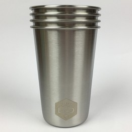 Ever Eco Stainless Steel Cup Set - 4 x 500ml