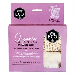Ever Eco Mixed Cotton Produce Bags 4 Pack