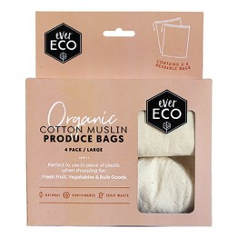 Ever Eco Cotton Muslin Produce Bags 4 Pack