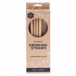 Ever Eco Bamboo Straws 4 pack + cleaning brush