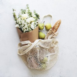Ever Eco Cotton Net Shopping Bag - Long Handles