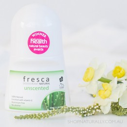 Fresca Natural Deodorant - 50ml Roll-on - Unscented with Vitamin E