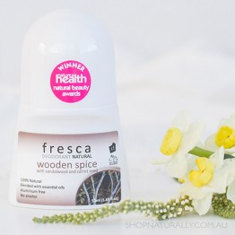 Fresca Natural Deodorant - 50ml Roll-on - Wooden Spice