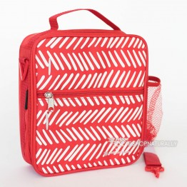 Fridge-To-Go Premium Insulated Lunch Bag - Medium - Red Herringbone