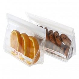 Full Circle Ziptuck Reusable Snack Bags - 2 x 400ml Clear