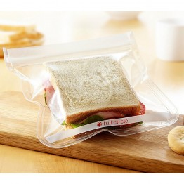 Full Circle Ziptuck Reusable Sandwich Bags - 2 x 830ml Clear