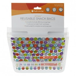Full Circle Ziptuck Reusable Snack Bags - 2 x 400ml Emoji