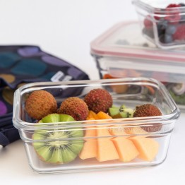 Glasslock Oven Safe Glass Food Container - 970ml Rectangular