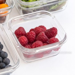 Glasslock Oven Safe Glass Food Container - 405ml Square