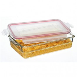 Glasslock Oven Safe Glass Food Container - 2.2L Rectangular Lasagne Baking Dish