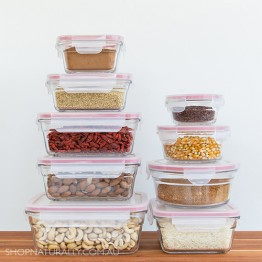 Glasslock Oven Safe Glass Food Container Set - 9 Containers with lids