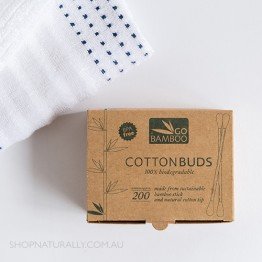 Go Bamboo 100% Biodegradable Bamboo Cotton Buds - Box of 200