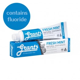 Grants Fresh Mint Toothpaste with Fluoride - 110gm tube