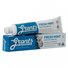 Grants Fresh Mint Toothpaste with Tea Tree Oil - 110gm tube