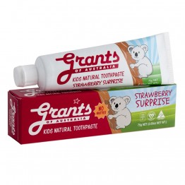 Grants Kids Natural Toothpaste - 75g Strawberry Surprise