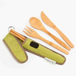 To-Go Ware Reusable Bamboo Utensil Set - Avocado (Green)