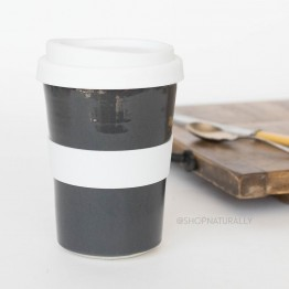 Southern Cross Pottery Stoneware Coffee Cup - 340ml Grey