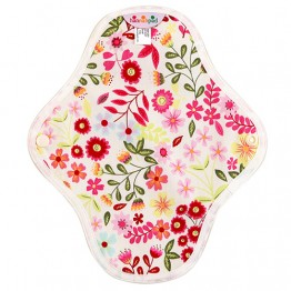 Hannahpad Washable Organic Cotton Sanitary Pad Small 2 pack - Flower Garden Pink