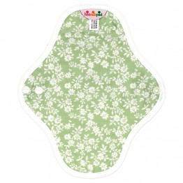 Hannahpad Washable Organic Cotton Sanitary Pad Small 2 pack - Innocent Green