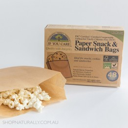 If You Care 100% Unbleached Paper Snack & Sandwich Bags - pack of 48