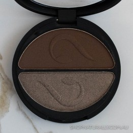 Inika Pressed Mineral Eye Shadow Duo 3.9g - Choc Coffee