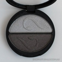 Inika Pressed Mineral Eye Shadow Duo 3.9g - Platinum Steel