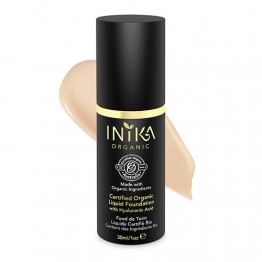 Inika Certified Organic Liquid Foundation with Hyaluronic Acid - 30ml Nude