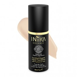 Inika Certified Organic Liquid Foundation with Hyaluronic Acid - 30ml Porcelain