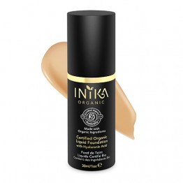 Inika Certified Organic Liquid Foundation with Hyaluronic Acid - 30ml Tan