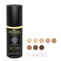 Inika Liquid Mineral Foundation 30ml - 8 Shades