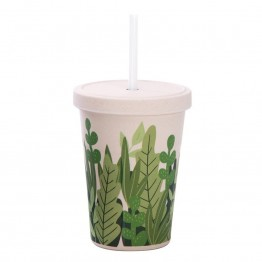 IS Gift eCup Bamboo Smoothie Cup - 500ml Garden Bed
