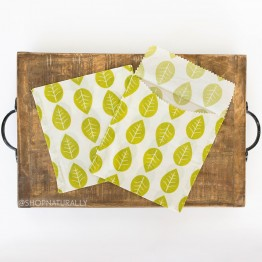 Karlstert Beeswax Sandwich Pouches 2 Pack - Leaves