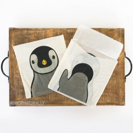 Karlstert Beeswax Sandwich Pouches 2 Pack - Penguin