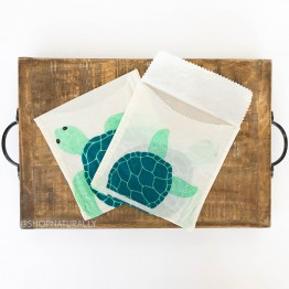 Karlstert Beeswax Sandwich Pouches 2 Pack - Turtle