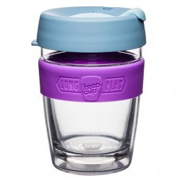 Keep Cup Long Play Insulated Glass Coffee Cup - 12oz (340ml) Lavender
