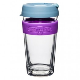 Keep Cup Long Play Insulated Glass Coffee Cup - 16oz (454ml) Lavender