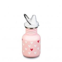 Klean Kanteen Classic Kids Sippy Bottle 355ml / 12oz - Millennial Hearts