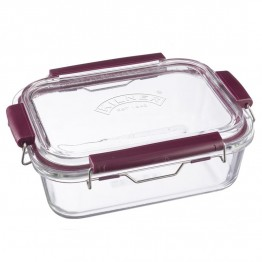 Kilner Fresh Storage Glass Lunch Box - 1.4 Litre Rectangle