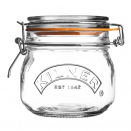 Kilner Round Clip Top Glass Jar - 500ml