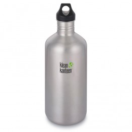 Klean Kanteen Classic Stainless Steel Water Bottle - 1892ml / 64oz Silver