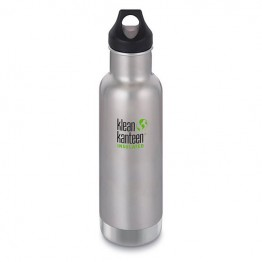 Klean Kanteen Classic Insulated Water Bottle 592ml / 20oz - Brushed Stainless