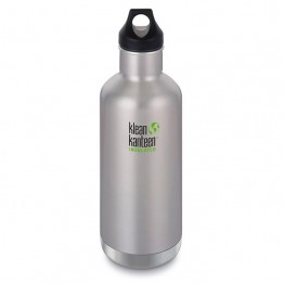 Klean Kanteen Classic Insulated Water Bottle 946ml / 32oz - Brushed Stainless