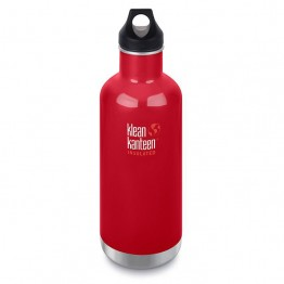 Klean Kanteen Classic Insulated Water Bottle 946ml / 32oz - Mineral Red