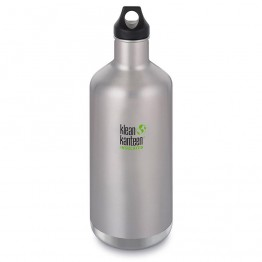 Klean Kanteen Classic Insulated Water Bottle 1900ml / 64oz - Brushed Stainless
