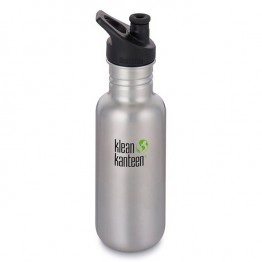 Klean Kanteen Classic Stainless Steel Water Bottle - 532ml / 18oz Brushed Stainless Steel