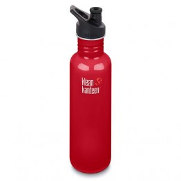 Klean Kanteen Classic Stainless Steel Water Bottle - 800ml / 27oz Mineral Red