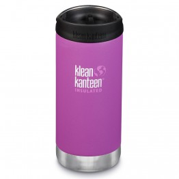 Klean Kanteen TKWide Insulated Bottle with Cafe Cap - 12oz Berry Bright